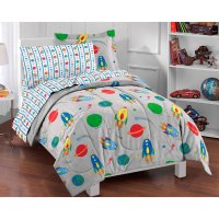 Rocket Ship Twin Bed-in-Bag - 5pc Outer Space Comforter ...
