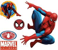 Spiderman Wall Accent Decals - Large Stick-up 5pc Wall ...