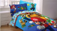 Super Mario Brothers Bedding Set - Nintendo Fresh Look ...