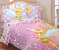 Tinkerbell Whimsy Twin Bedding Set - 4pc Disney Fairies ...