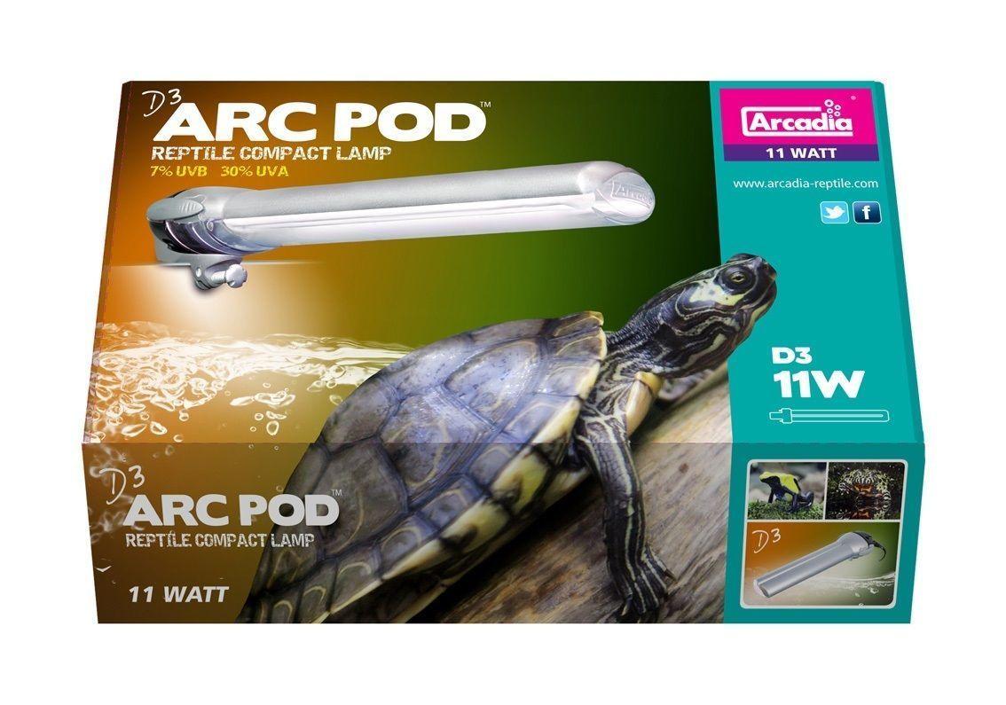 ARCADIA D3 ARC POD REPTILE 11W COMPACT LAMP LIGHT TUBE 7