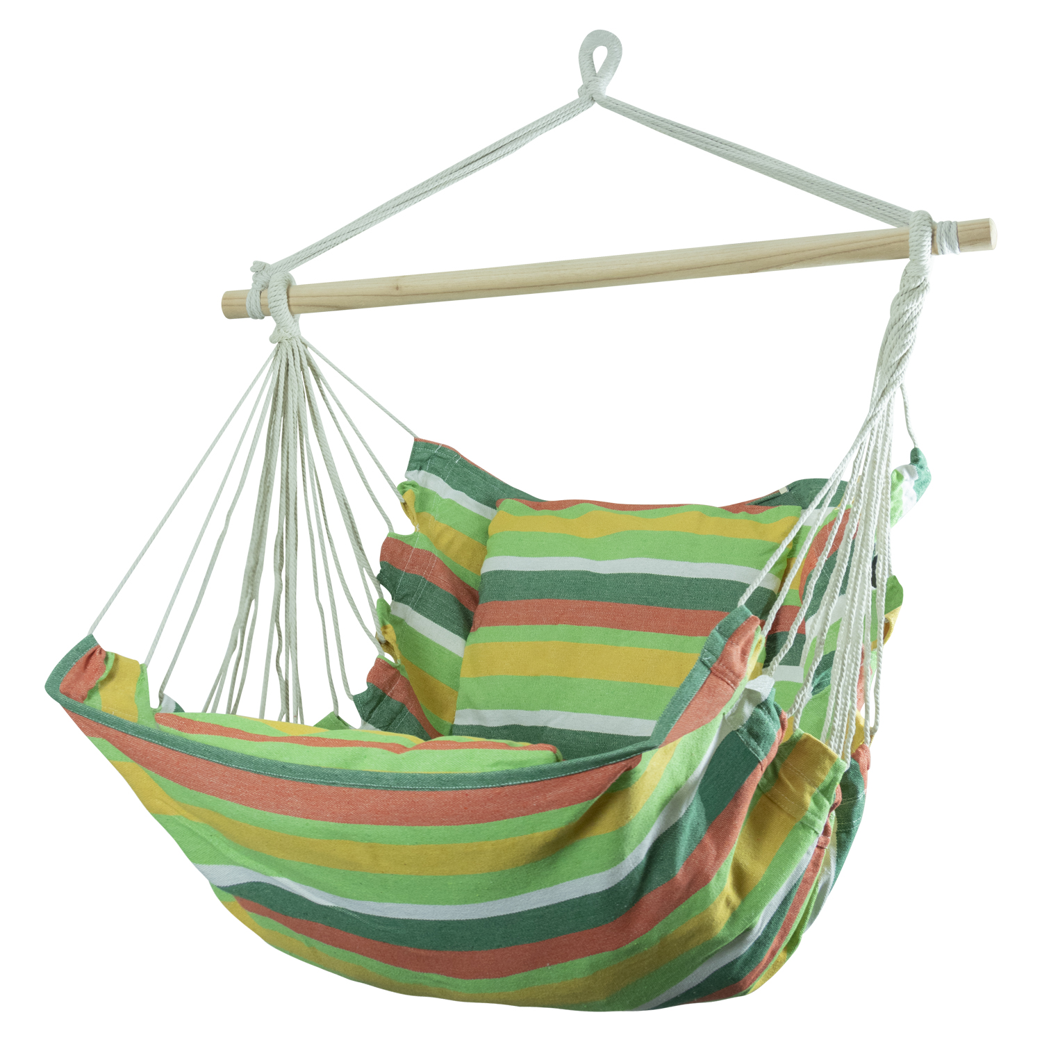Hanging Chair Outdoor Details About Woodside Swinging Garden Hammock Chair Outdoor Wooden Rope Swing Seat