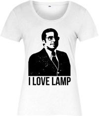 Anchorman Ladies T-Shirt,I love lamp Brick Tamland,Ron ...