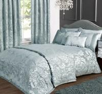 Charleston Duck Egg Cream Jacquard Bed Linen Collection ...