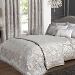 Kliving Luxury Charleston Silver Grey Woven Jacquard Embossed Bedding Collection Ebay