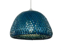 32cm Large Dome Rattan Ceiling Light Pendant Shade Green