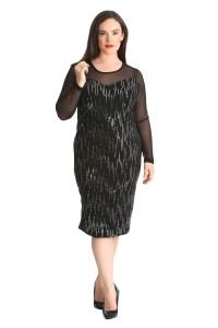Womens Dress Ladies Bodycon Sequin Midi Chiffon Sweetheart ...