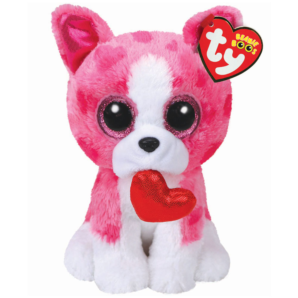 TY Beanie Boo Plush Romeo The Dog 15cm Valentines EBay