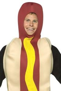 Adult Hot Dog Fancy Dress Costume Lightweight Novelty ...