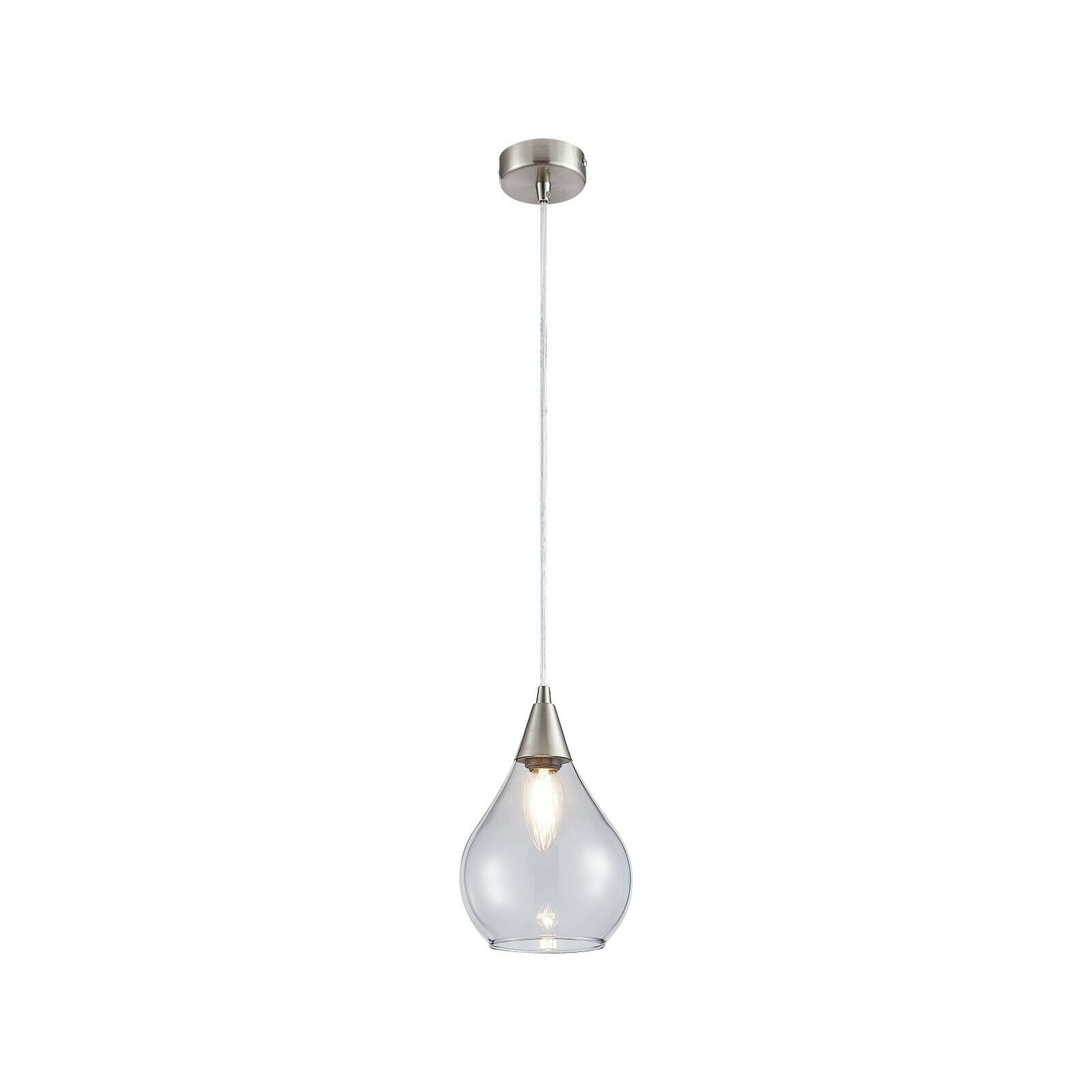 Leuchten Bilder Nino Leuchten Cami 1 Light Glass Ceiling Pendant, Smoky Glass Shade | Ebay