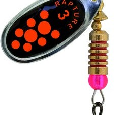 Spinner AGF Bk Orange Dots