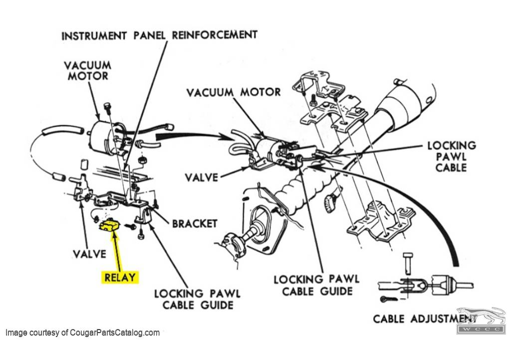 1968 Ford Mustang Tilt Away Steering Wiring Diagram : 51