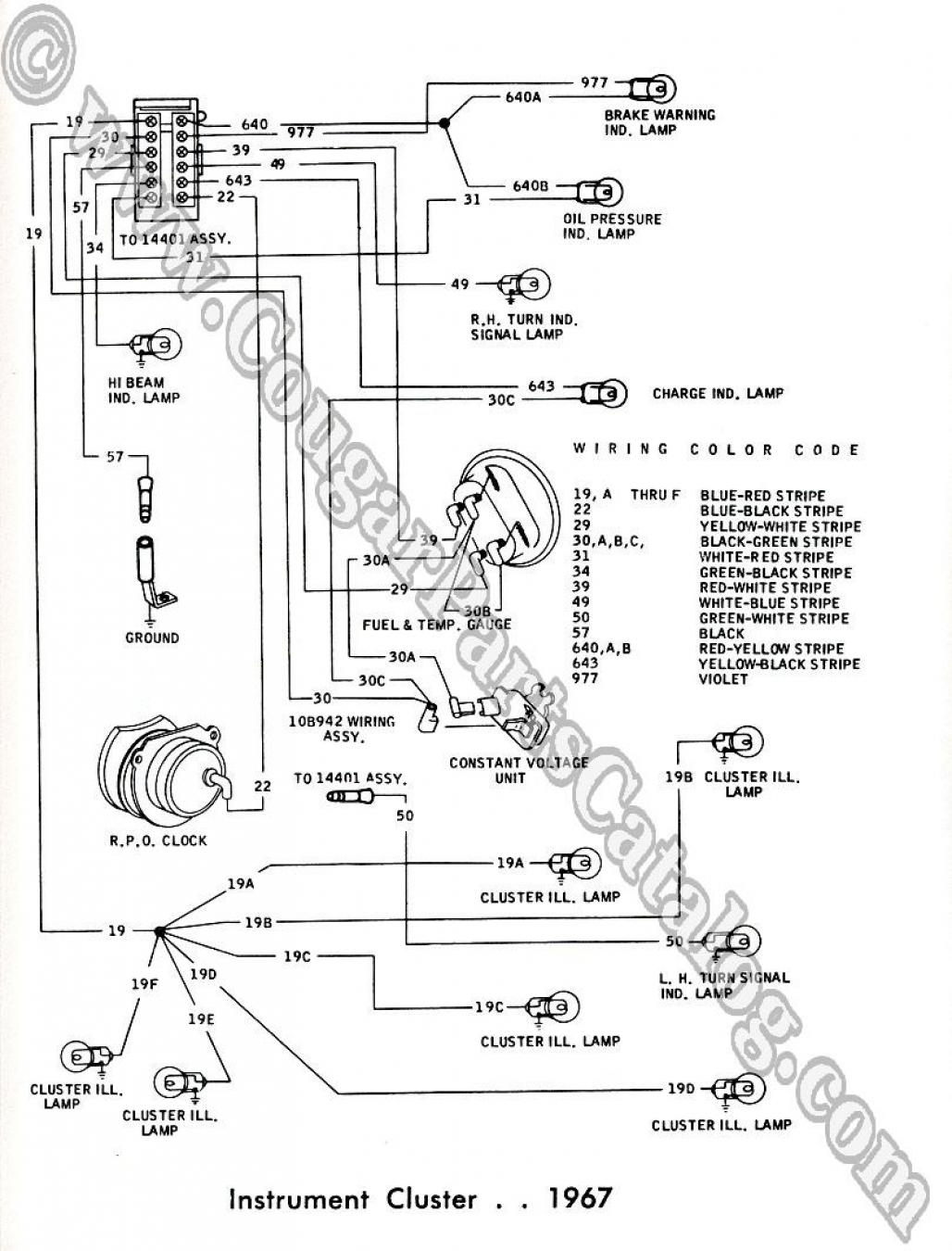 1969 Car Wiring Diagram 1968 Mercury Cougar Diagram
