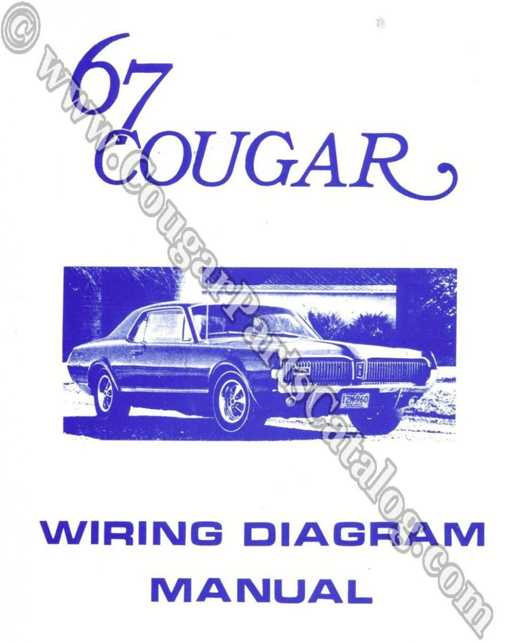 medium resolution of manual wiring diagram repro 1967 mercury cougar 25959