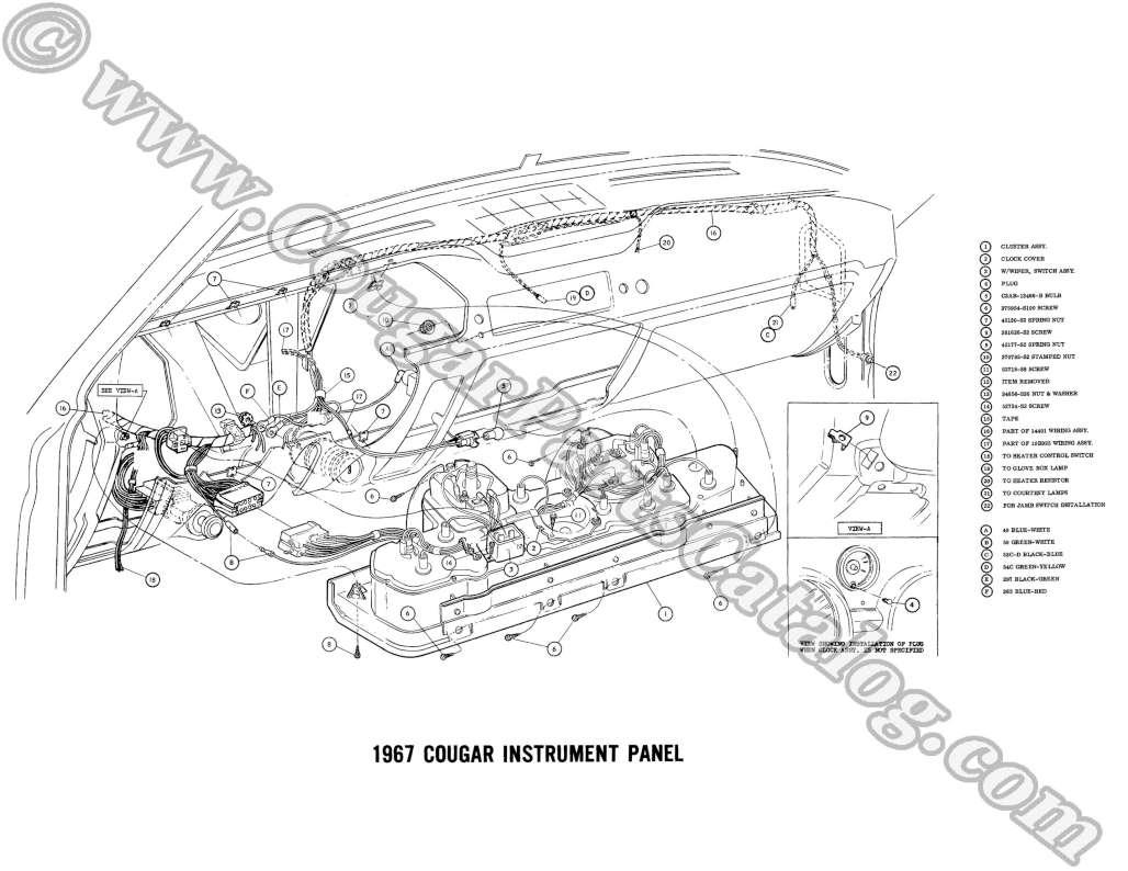 hight resolution of manual complete electrical schematic free download 1967 rh secure cougarpartscatalog com 1973 mercury marquis 1973 mercury cougar wiring harness engine