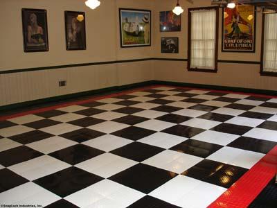 Garage Tiles: Black White Garage Tiles