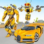 Bee Robot Car Transformation Game Mod Apk