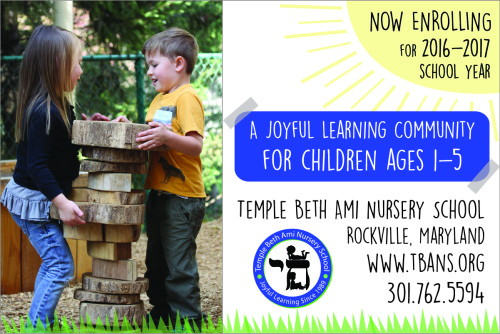 Temple Beth Ami ad: http://www.bethami.org/education/nursery