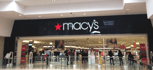Macy's store interior entrance, Westfield Montgomery Mall