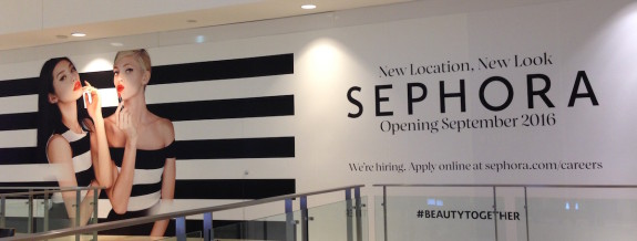 Sephora construction sign 2