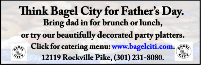 2016 Bagel City Father's Day ad