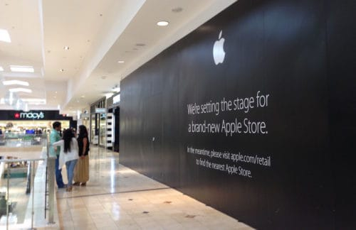 Closed Apple Store at Westfield Montgomery Mall