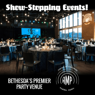 Events at AMP by Strathmore: https://www.ampbystrathmore.com/private-events?utm_source=Store%20Reporter&utm_medium=banner&utm_content=AMP%20Venue%20Rental