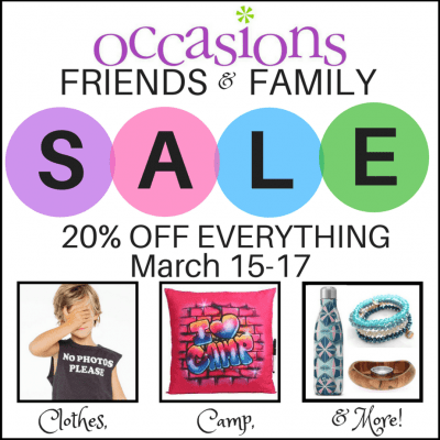 Occasions Friends & Family Sale
