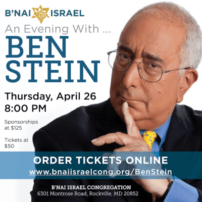 Congregation B'nai Israel Evening with Ben Stein