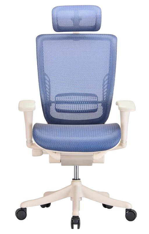 herman miller rolling office chair graco high cover replacement pad ergonomic adjustable in blue mesh - ergo chairs