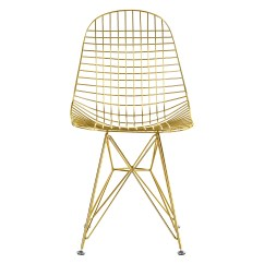 Chair Design Gold Pvc Folding Lounge Wire Side With Bikini Cushion Home And Office