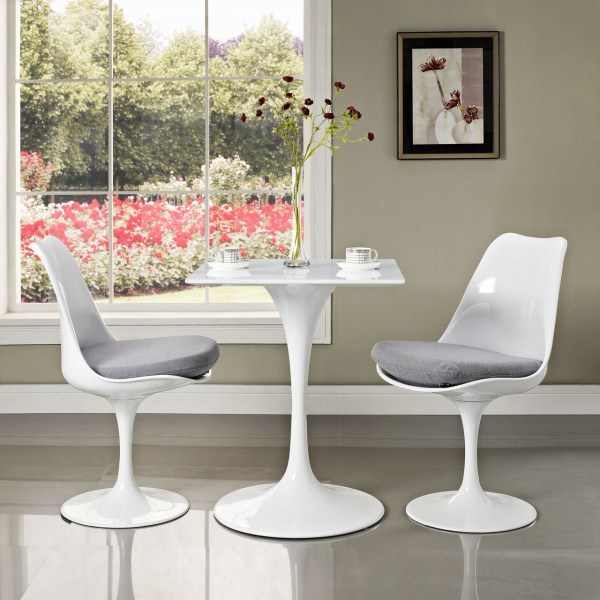 Tulip Table Square Top Pedestal - Home And Office
