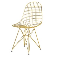 Chair Design Gold Covers Online Australia Wire Side With Bikini Cushion Home And Office