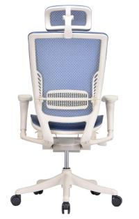 Ergonomic Adjustable Office Chair In Blue Mesh - Ergo ...
