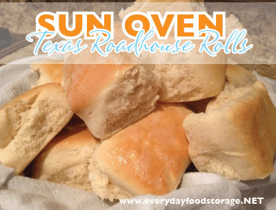 Sun Oven Texas Roadhouse Rolls