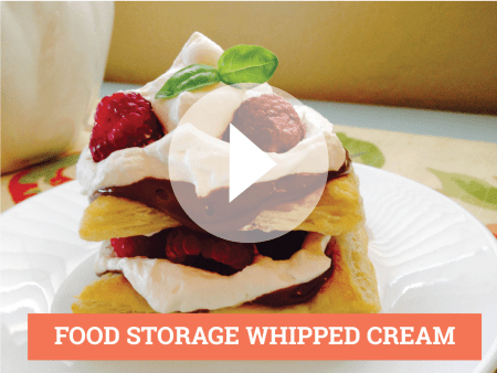 FOOD STORAGE WHIPPED CREAM