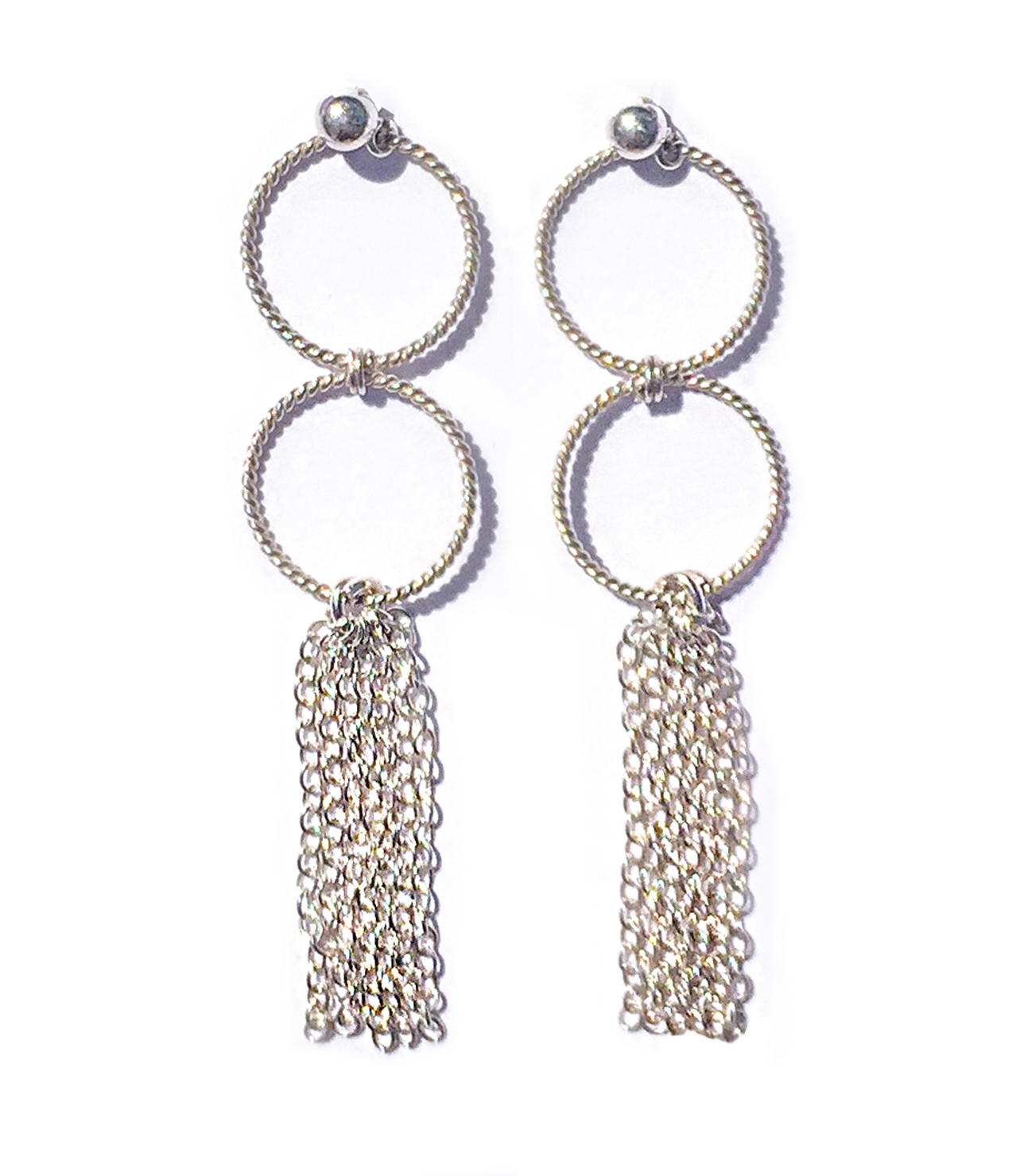 1772cd192 Silver Catalan Tassel Earrings. JEWELLERY