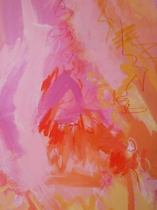 Vibrant abstract expressionist painting from London Artist