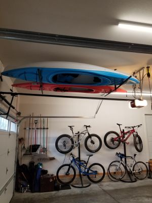2 Kayak Ceiling Storage Rack Hi Port 2 Adjustable Overhead Mount Storeyourboard Com