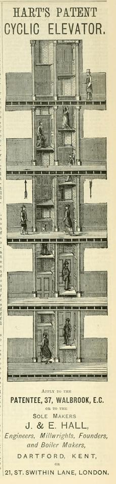 Risultato immagini per Peter Hart patent paternoster