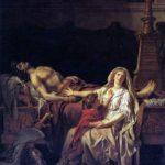 Compianto di Andromaca sul corpo di Ettore, Jacques-Louis David, 1783 museo del Louvre, Parigi.