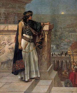 Herbert Schmalz - L'ultimo sguardo della regina Zenobia su Palmira