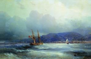"Trebizond from the Sea"" Ivan Aivazovsky - 1856"