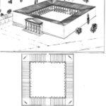 Grande peristilio quadrato sede dei tribunali civili ad Atene