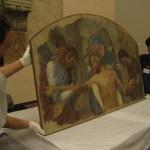 """L'affresco con la """"Pietà"""", in prestito dall'Ambrosiana"""