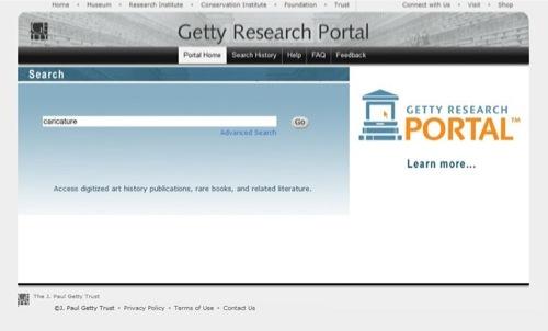 Pagina per l'avvio della ricerca