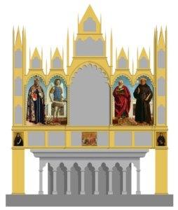 Ricostruzione ipotetica del polittico di Sant'Agostino, Borgo San Sepolcro
