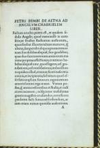 Pietro Bembo, De Aetna (Venezia, Aldo Manuzio), febbraio 1495, Milano, Biblioteca Nazionale Braidense