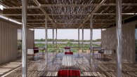 Cafeteria terrace of the container medical compound - AKAA / Raul Pantaleo