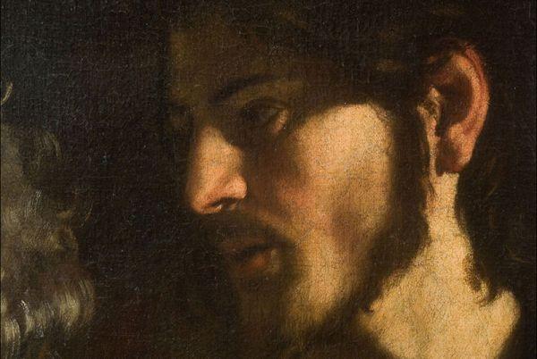 Caravaggio, Vocazione di san Matteo, particolare